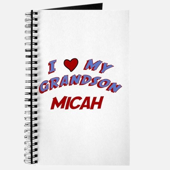 I Love My Grandson Micah Journal