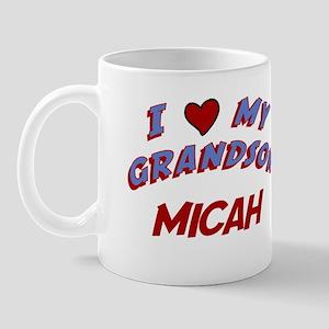 I Love My Grandson Micah Mug