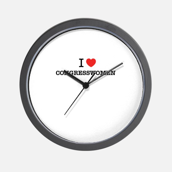 I Love CONGRESSWOMEN Wall Clock