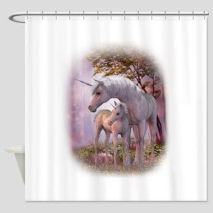 Enchanted Unicorns Shower Curtain