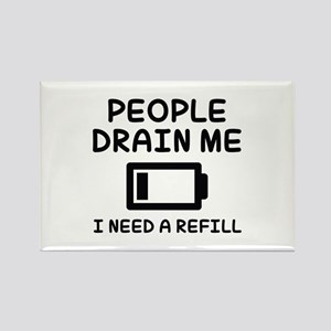 People Drain Me Rectangle Magnet