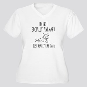 I'm Not Socially Awkward Women's Plus Size V-Neck