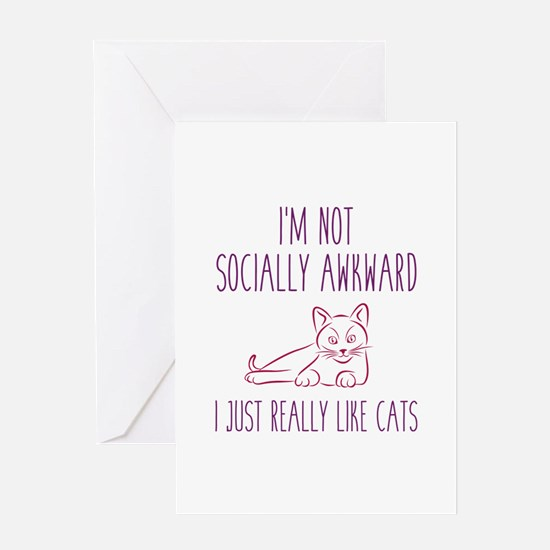 I'm Not Socially Awkward Greeting Card