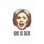 Hillary Clinton Is Sick Sticker