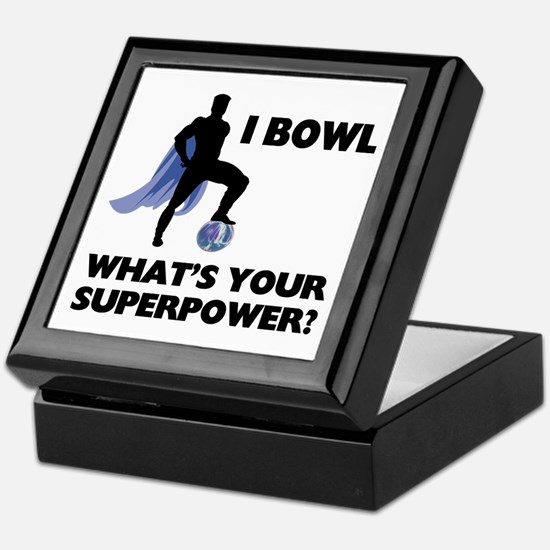 Bowling Superhero Keepsake Box