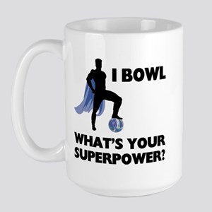 Bowling Superhero Large Mug