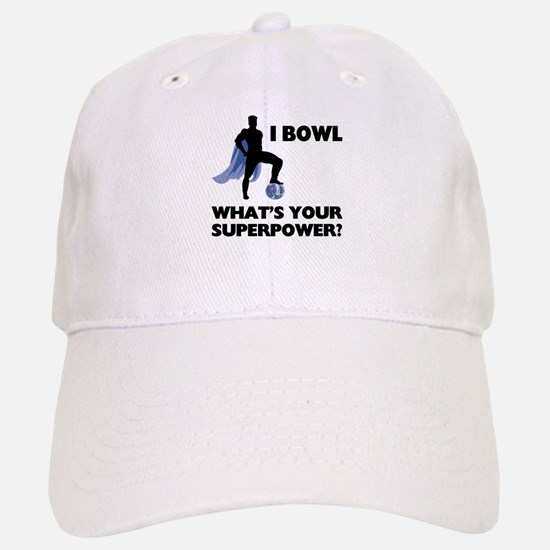 Bowling Superhero Baseball Baseball Cap