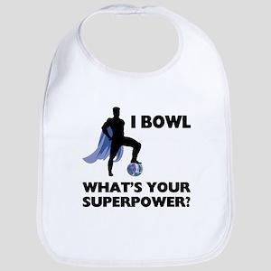 Bowling Superhero Bib