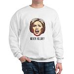 Never Hillary Clinton Sweatshirt