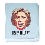 Never Hillary Clinton baby blanket