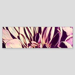 minimalist watercolor flower dahlia Bumper Sticker