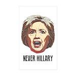 Never Hillary Clinton Sticker