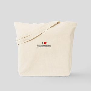 I Love COMBINABILITY Tote Bag