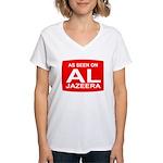 As seen on Al Jazeera Women's V-Neck T-Shirt