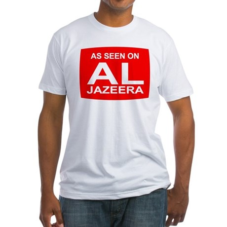 As seen on Al Jazeera Fitted T-Shirt