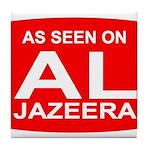 As seen on Al Jazeera Tile Coaster