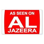 As seen on Al Jazeera Rectangle Sticker