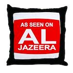 As seen on Al Jazeera Throw Pillow