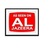 As seen on Al Jazeera Framed Panel Print