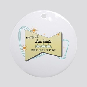 Instant Fence Installer Ornament (Round)