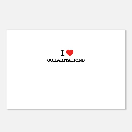 I Love COHABITATIONS Postcards (Package of 8)