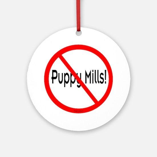 No Puppy Mills Ornament (Round)