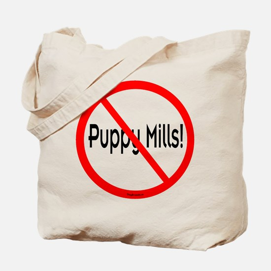 No Puppy Mills Tote Bag
