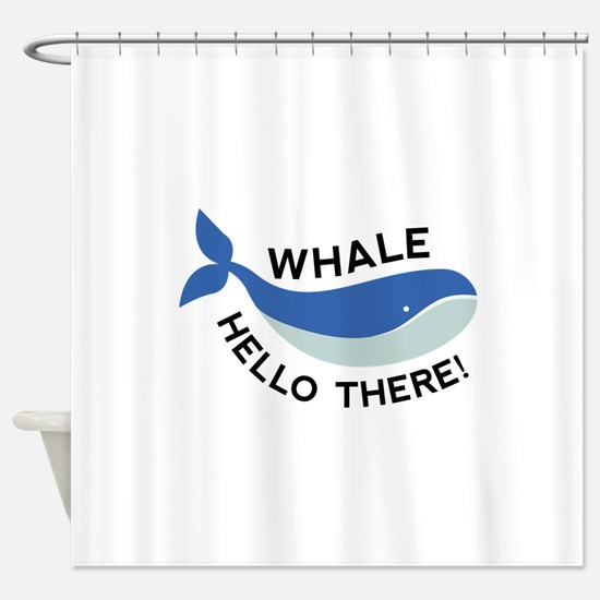 Whale Hello There! Shower Curtain