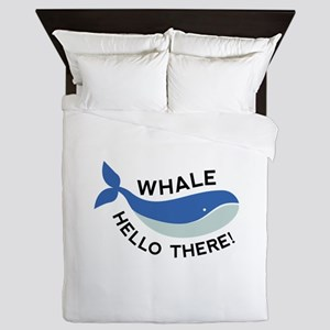 Whale Hello There! Queen Duvet
