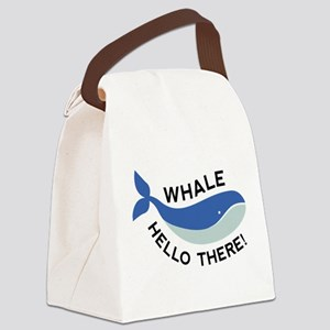 Whale Hello There! Canvas Lunch Bag