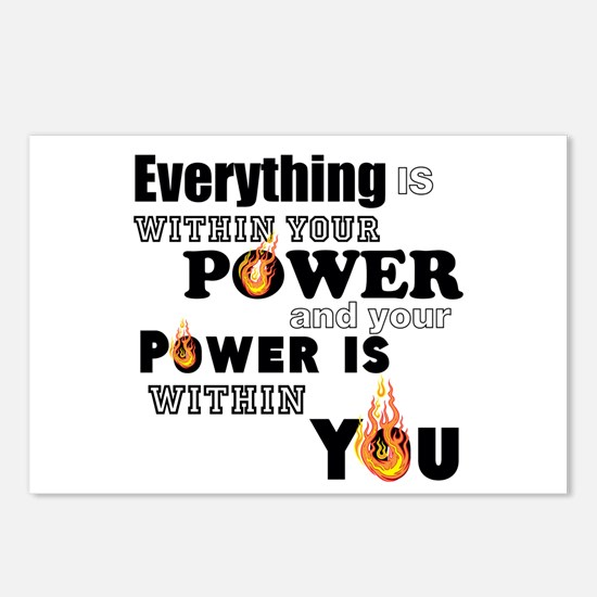 You are POWERFUL Postcards (Package of 8)