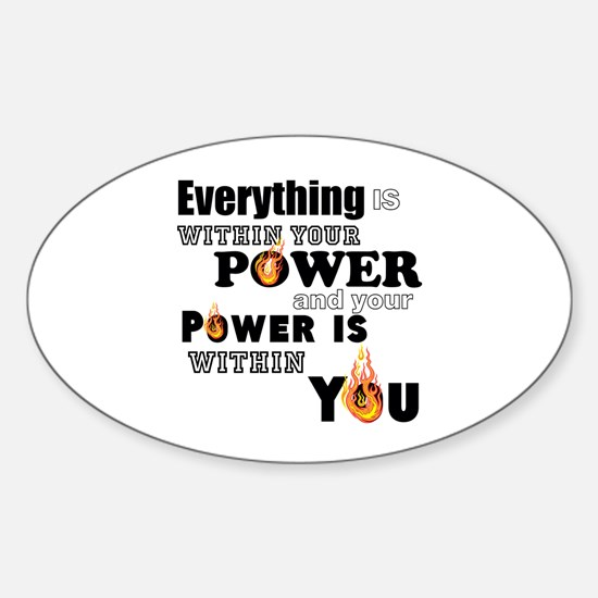 You are POWERFUL Decal