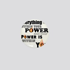 You are POWERFUL Mini Button