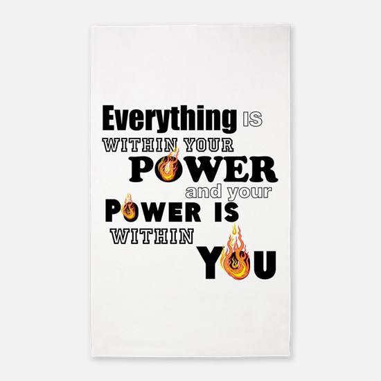 You are POWERFUL Area Rug