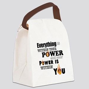 You are POWERFUL Canvas Lunch Bag