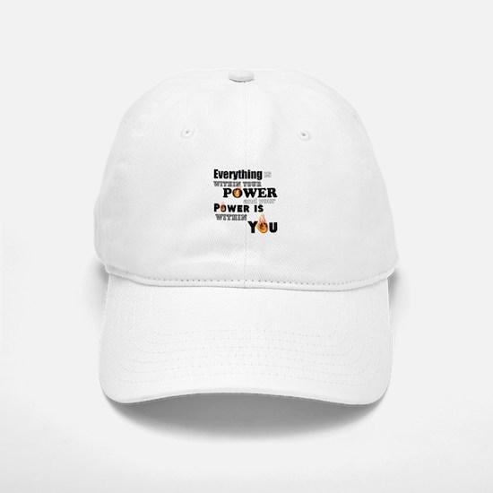 You are POWERFUL Baseball Baseball Cap