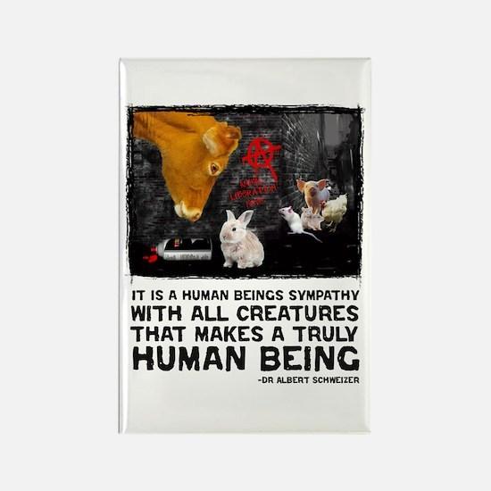 Animal Liberation -Schweizer Rectangle Magnet