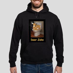 Deer or Dear John Hoodie (dark)