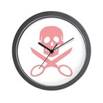Pink Jolly Cropper Wall Clock