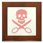 Pink Jolly Cropper Framed Tile