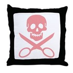 Pink Jolly Cropper Throw Pillow