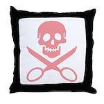 Pink Jolly Cropper Throw Pillow