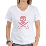 Pink Jolly Cropper Women's V-Neck T-Shirt