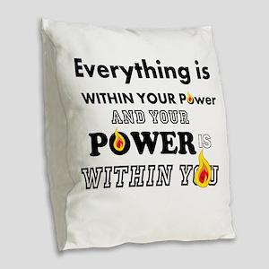 You are POWERFUL Burlap Throw Pillow