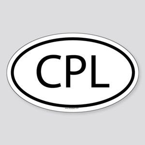 CPL Oval Sticker
