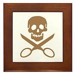 Mocha Jolly Cropper Framed Tile