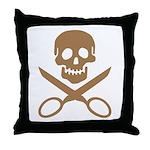 Mocha Jolly Cropper Throw Pillow