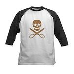 Mocha Jolly Cropper Kids Baseball Jersey
