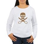 Mocha Jolly Cropper Women's Long Sleeve T-Shirt
