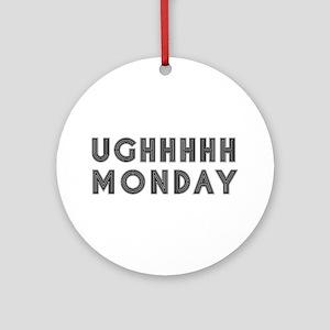 Monday Round Ornament